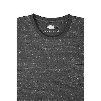 BadRhino mørk grå mergel korte ermer Pocket t-skjorte