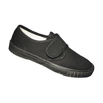 Mirak Unisex Velcro Plimsolls Black