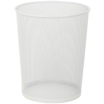 Mesh Metal Trash Basket 18l-White TRS-TB-02120