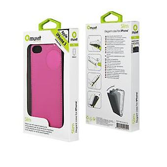 Muvit Slim sleeve pink iphone 5 (Home , Electronics , Telephones , Accessories)