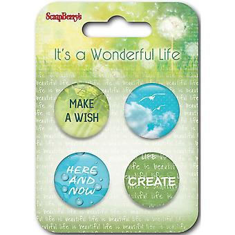 ScrapBerry's It's A Wonderful Life Embellishments-#4 SCB1058