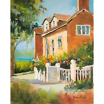 Summertime Cottage Poster Print by Jane Slivka