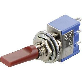 Toggle switch 250 Vac 3 A 2 x On/On Miyama MS 500 F-MF latch 1 pc(s)