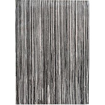 Atlantic Cotton Grey Striped Living Room Rug - Louis de Poortere