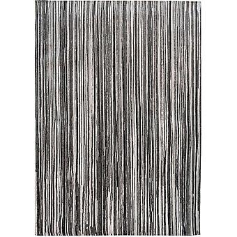 Atlantic Cotton Grey Striped Living Room Rug - Louis de Poortere