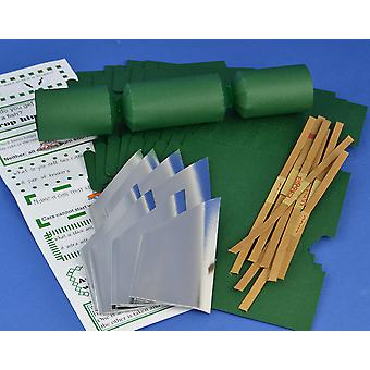 8 MINI Deep Green Make & Fill Your Own Cracker Making Craft Kit