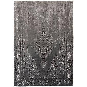 Distressed Grey Neutral Medallion Flatweave Rug 230 x 230 - Louis de Poortere