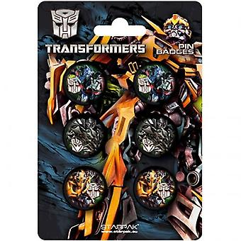Officially Licensed | TRANSFORMERS | 6 PIN BADGE PACK