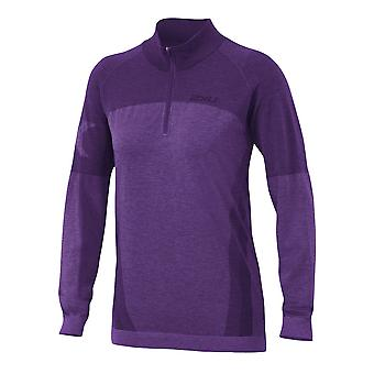 2XU Women Engineered Zip Thru Top Laufshirt - WR3486a-4222