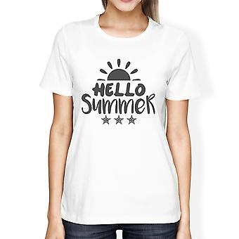 Hallo zomerzon Womens Graphic Tee Shirt korte mouw ronde hals