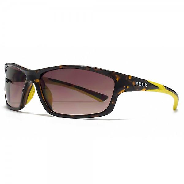 FCUK Sport Wrap Sunglasses In Tortoiseshell