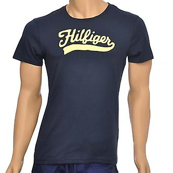 Tommy Hilfiger Organic Cotton Short Sleeved Crew Neck T-Shirt, Navy, X-Large