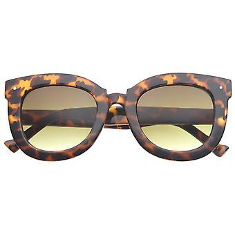 Womens Oversized Butterfly Horn Rimmed Round Cat Eye Sunglasses 67mm
