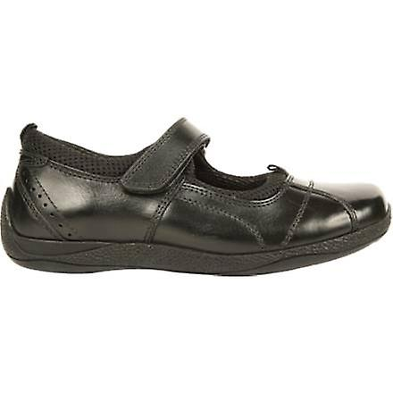 Hush Puppies Girls School Shoe Cindy Black Leather F fitting