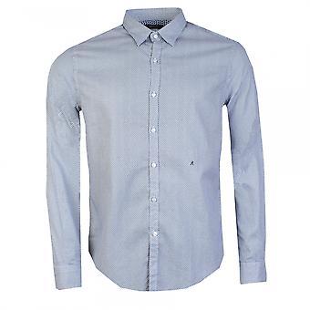 Replay Replay Microgeometric Printed Mens Cotton Shirt