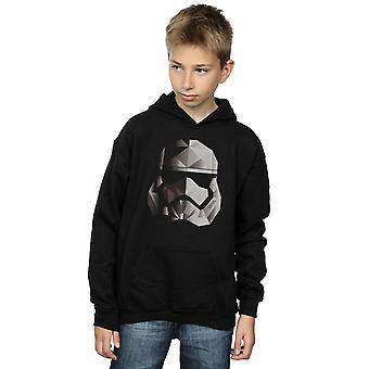 Star Wars Boys The Last Jedi Stormtrooper Mono Cubist Helmet Hoodie