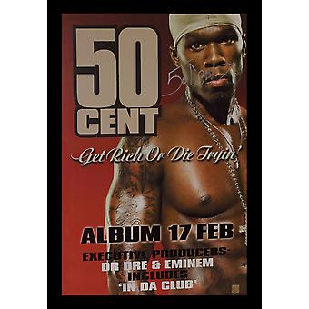 50 Cent Signed Poster