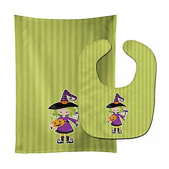 Carolines Treasures  BB9155STBU Halloween Witch #2 Baby Bib & Burp Cloth
