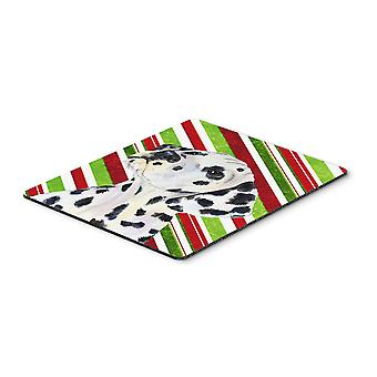Dalmatian Candy Cane Holiday Christmas Mouse Pad, Hot Pad or Trivet