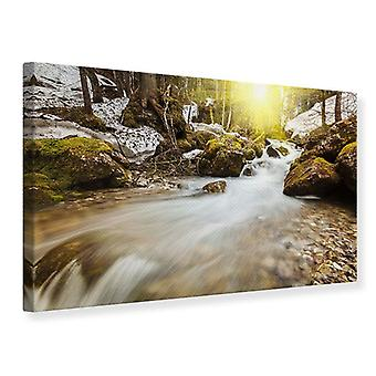 Canvas Print Cascading Waterfall