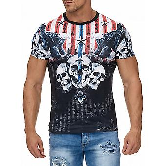 Men's T-Shirt H1964 top short sleeve Eagle Star type shirt