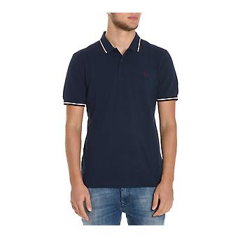 Fred Perry men's FPM3600E35 Blau cotton polo shirt