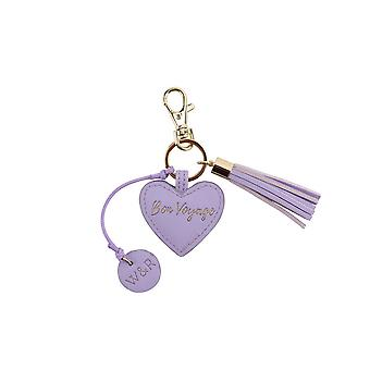 CGB Giftware Willow And Rose Bon Voyage Lilac Keyring