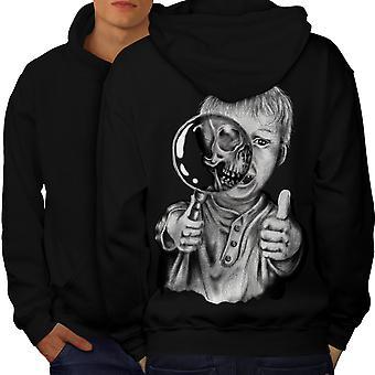Kid Scary Scream Men BlackHoodie Back | Wellcoda
