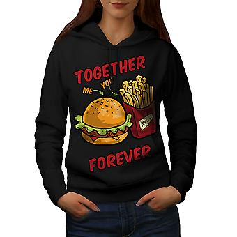 Together Forever Women BlackHoodie | Wellcoda