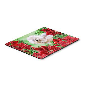 Bichon Frise #2 Poinsettas Mouse Pad, Hot Pad or Trivet