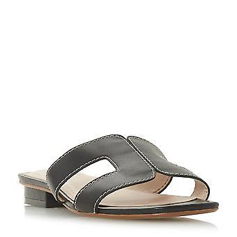 LOUPE de Mesdames dune Smart Slider sandale en noir