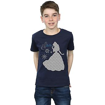Disney Princess Boys Belle Christmas Silhouette T-Shirt
