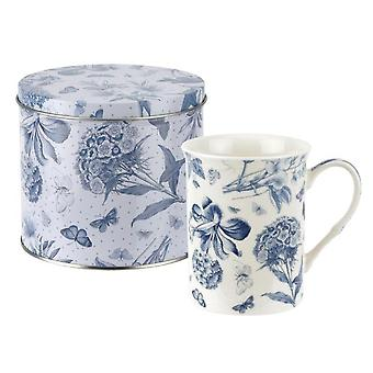 Spode Botanic Blue Mug & Tin Set