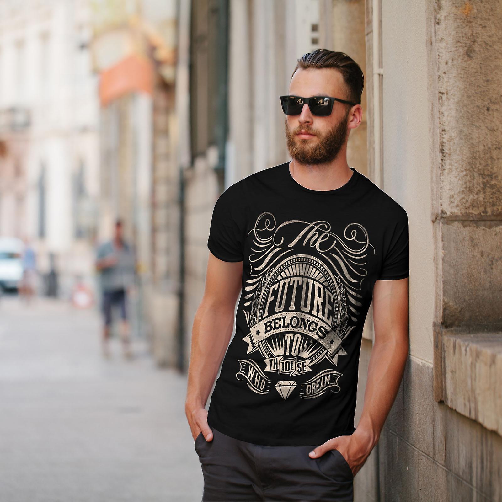Futuro pertenece lema BlackT-camisa de los hombres | Wellcoda