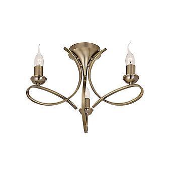 Interiors 1900 Penn halb-spülen 3 gebürstet Licht Kronleuchter In A