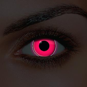 i-Glow Pink UV Contact Lenses (Pair)