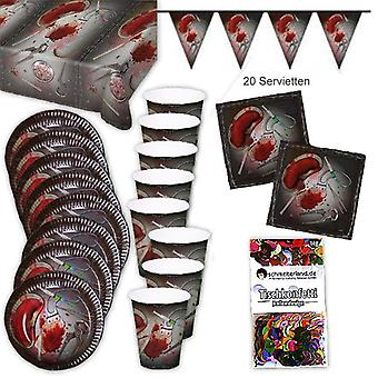 Bloody Halloween party box party package 39-teilig decoration set