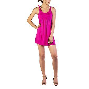 Miu Miu Women's Modal Silk Blend Pleaded Dress Pink