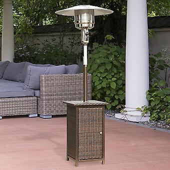 Outsunny 12KW Heater Free Standing Garden Rattan Table Top