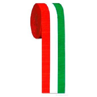 Red - White & Green Crepe Streamer