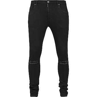 Urban Classics Jeans Hose Slim Fit Knee Cut Denim