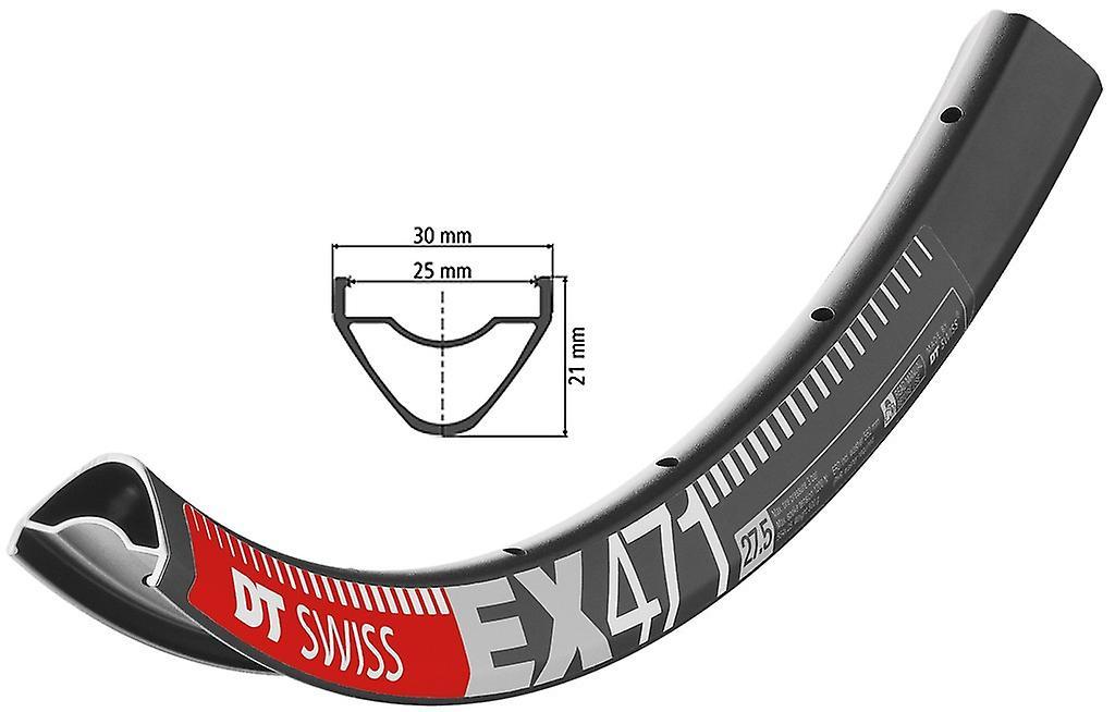 Roue de vélo DT Swiss EX 471 noir   584-25 (27, & 034;5& 034;)   disque