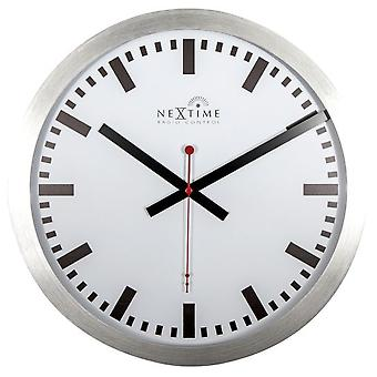 Nextime White wall clock with radio control station 35 cm (Decoration , Clocks)