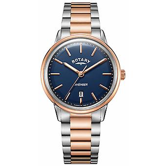 Rotary Mens Avenger Two Tone Bracelet Blue Dial GB05342/05 Watch