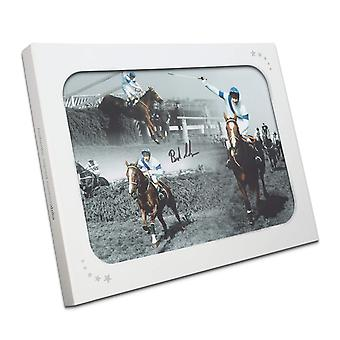 Signed Bob Champion Grand National Photo: Aldaniti. In Gift Box