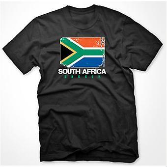 Südafrika-Fußball-T-Shirt (schwarz)