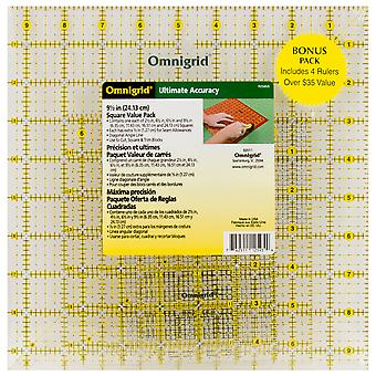 Omnigrid Ruler Set-Value Pack 2 4/Pkg