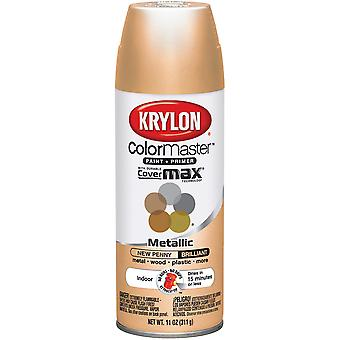Colormaster Indoor/Outdoor Aerosol Paint 12Oz-New Penny Matte