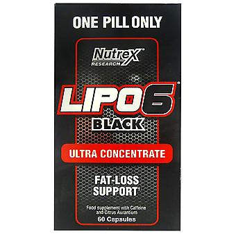 Nutrex Lipo-6 Black Ultra Concentrate 60 Capsules (Sport , Weight loss , Thermogenics)