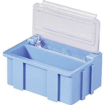 Colore coperchio blu di SMD casella: trasparente 1/PC (L x W x H) 37 x 12 x 15 mm Licefa N22381